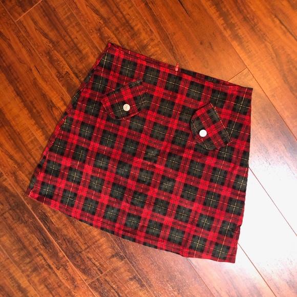 Vintage Runway Pin Up Schoolgirl Plaid Mini Skirt